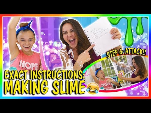 EXACT INSTRUCTIONS MAKING SLIME CHALLENGE | We Are The Davises