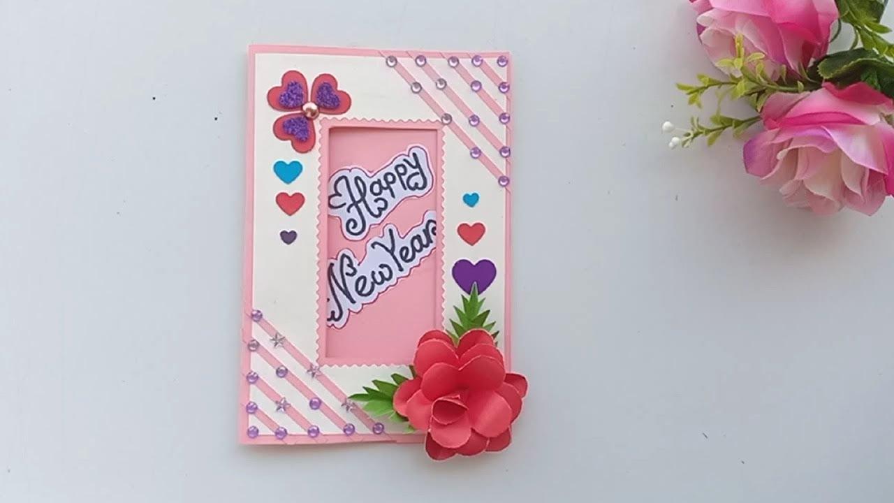 Beautiful handmade happy New year 2020 card Idea/ DIY ...