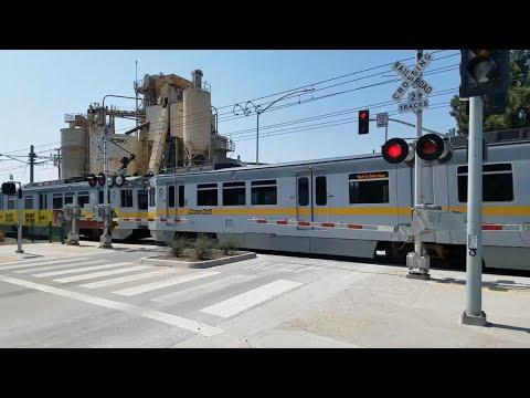 Los Angeles Metro Light Rail, 19th Street Crossing, Santa Monica CA