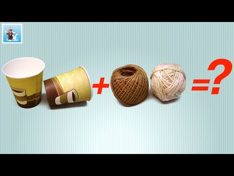Jute Rope Craft Ideas with Paper Cups | Handmade| Handicraft