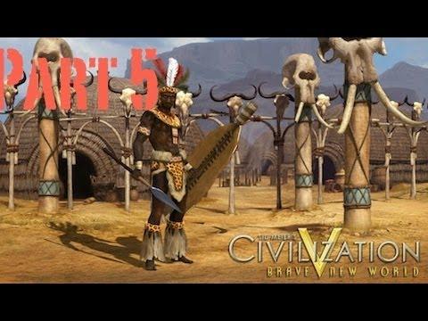 Let's Play Civilization 5: A Brave New World - Zulu - Part 5