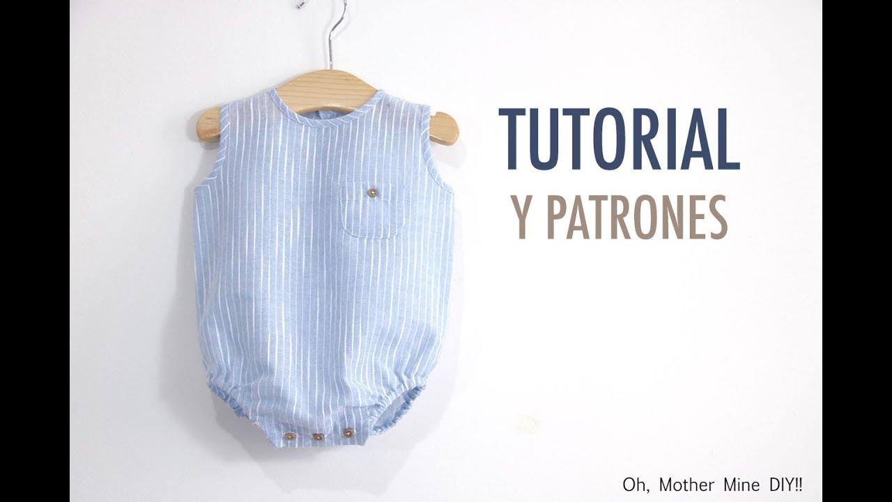 Aprender a coser: Pelele de lino para bebés (patrones gratis) - YouTube