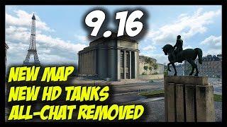 ► World of Tanks: 9.16 - New Paris Map, New HD Tanks,
