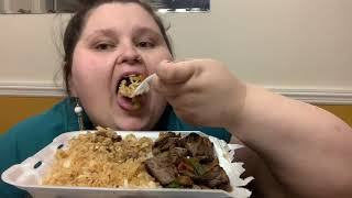STEAK HIBACHI MUKBANG