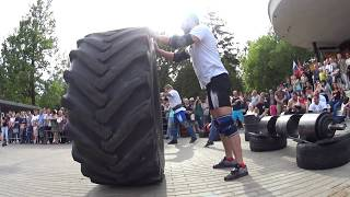 Egor Kaiju Makarov VS Sergey Belousov. Tire flip 280 kg 6.5 reps + loglift 117 kg.Final