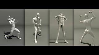 Видеоурок - подготовка модели человека к анимации в 3D Studio Max 2011 RUS.