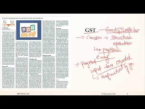 22 DECEMBER 2017 -THE HINDU EDITORIAL ANALYSIS IN TAMIL- GST AND ADULTERY