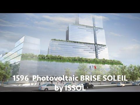 1596 Photovoltaic Brise-Soleil on the New Palais de Justice in Paris by ISSOL