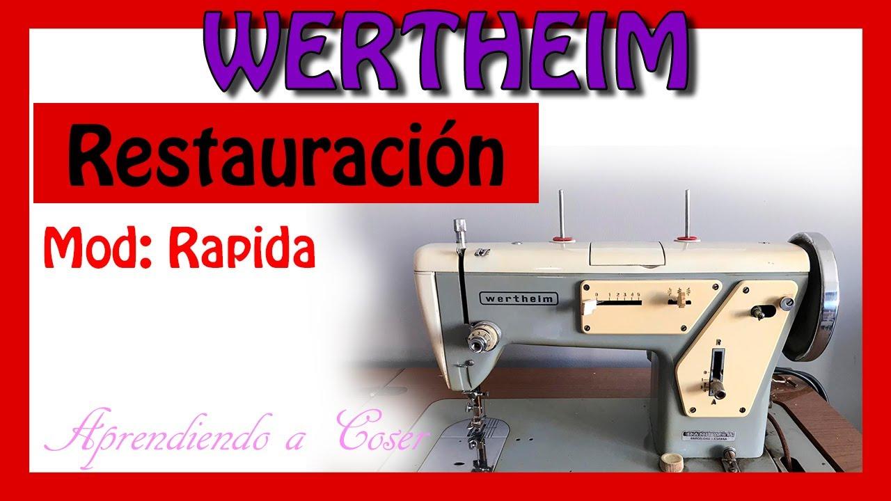 Restaurar máquina de coser antigua Wertheim Rapida - YouTube