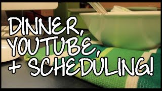DINNER, YOUTUBERS, ORGANIZING SCHEDULE - VLOG Thumbnail