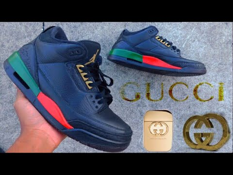 Air Jordan Gucci 3s Custom