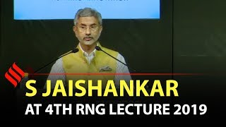Full speech: EAM Dr S Jaishankar delivers 4th RNG lecture 2019 | Indian Express