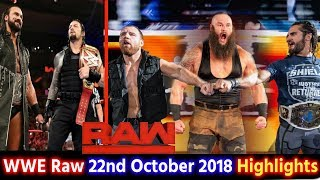 WWE Monday Night Raw 22nd Oct 2018 Hindi Highlights Preview - Roman Reigns | Shield Break Up Results
