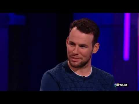 Mark Cavendish being tested on bums courtesy of the Clare Balding Show