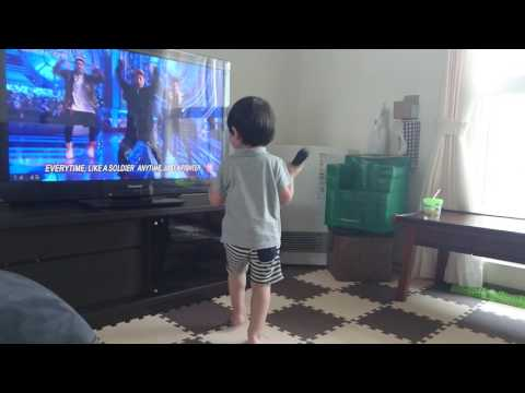 GENERATIONSのBRAVE IT OUTを熱唱する2歳児♂