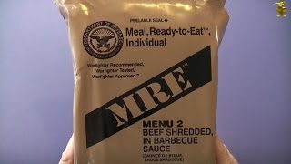 Mre Review - Menu 2 - Beef Shredded In Bbq Sauce (2014)