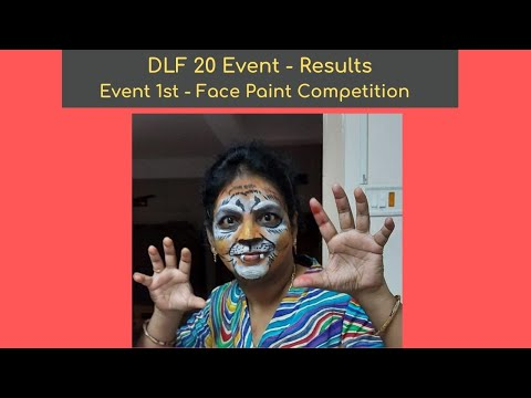 DLF 20 event   Face painting result