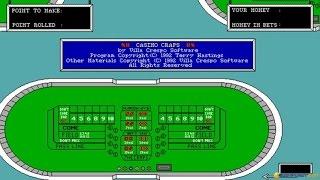 Casino Craps gameplay (PC Game, 1992)