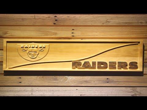 Oakland Raiders Split Wooden Sign