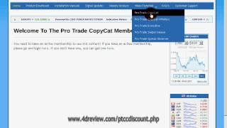 Pro Trade CopyCat EA Forex Signals members Area Review ProTrader Copycat Discount