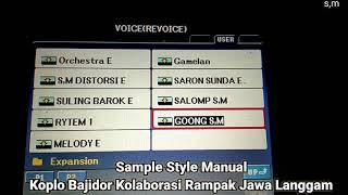 Sample Style Bajidor manual kolaborasi Rampak jawa langgam