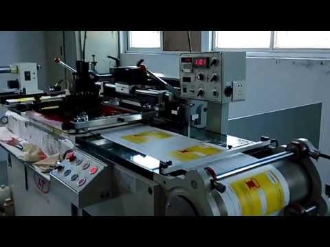 Xiamen Lingtie Machiney Auto roll to roll sticker screen printing machine