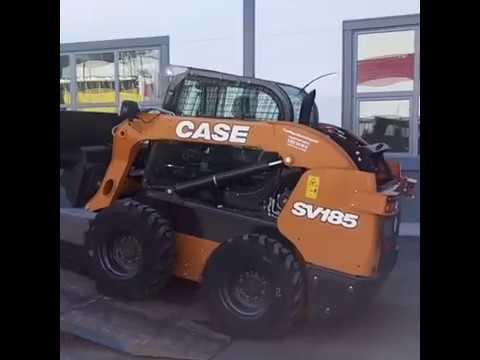 Мини-погрузчик CASE SV 185 с навесным приехал к заказчику