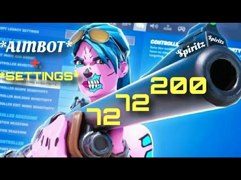 Best Controller Settings For Competitive FORTNITE *Linear*(Aimbot)