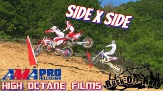 AMA PRO HILL CLIMB MOTO X SIDE BY SIDE DIRT BIKE HILL CLIMBING! RUSH OFFROAD PARK