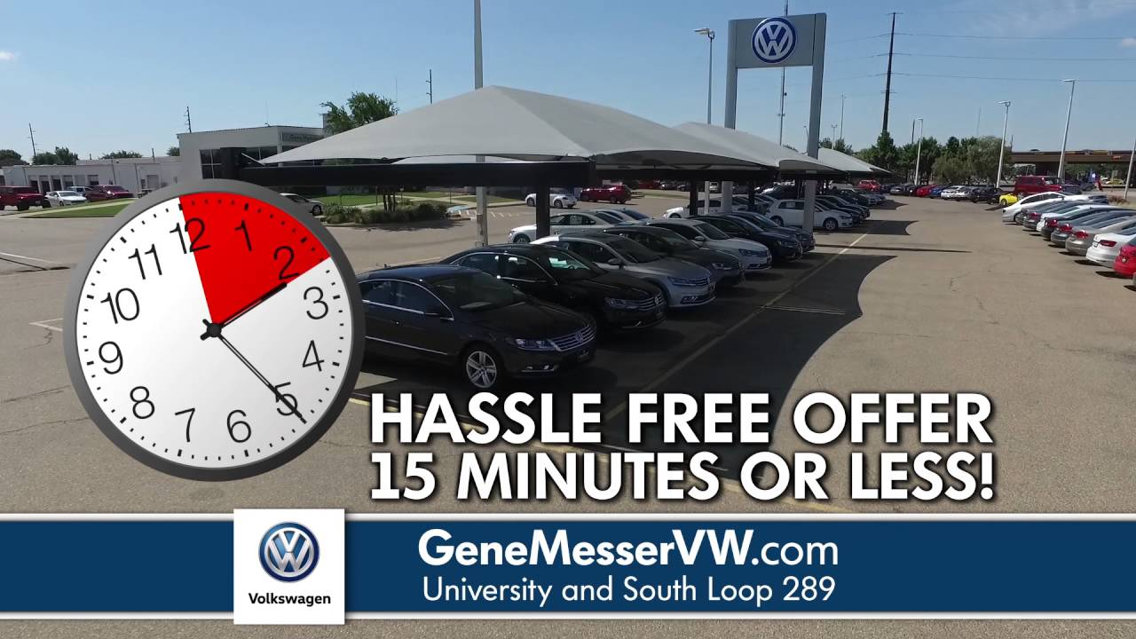 Gene messer vw for a quick and easy car buying experience