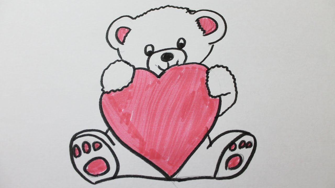 Comment dessiner un nounours youtube - Un dessin d amour ...