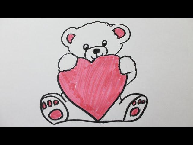 Image de Coeur: Dessin De Nounours Avec Un Coeur