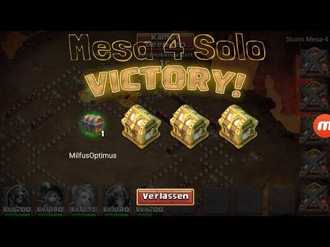 Mesa 4 SOLO VICTORY CASTLE CLASH