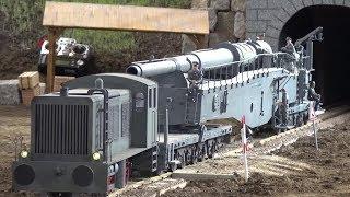 Amazing R/C Cannon on a Railway German Military Artelerie