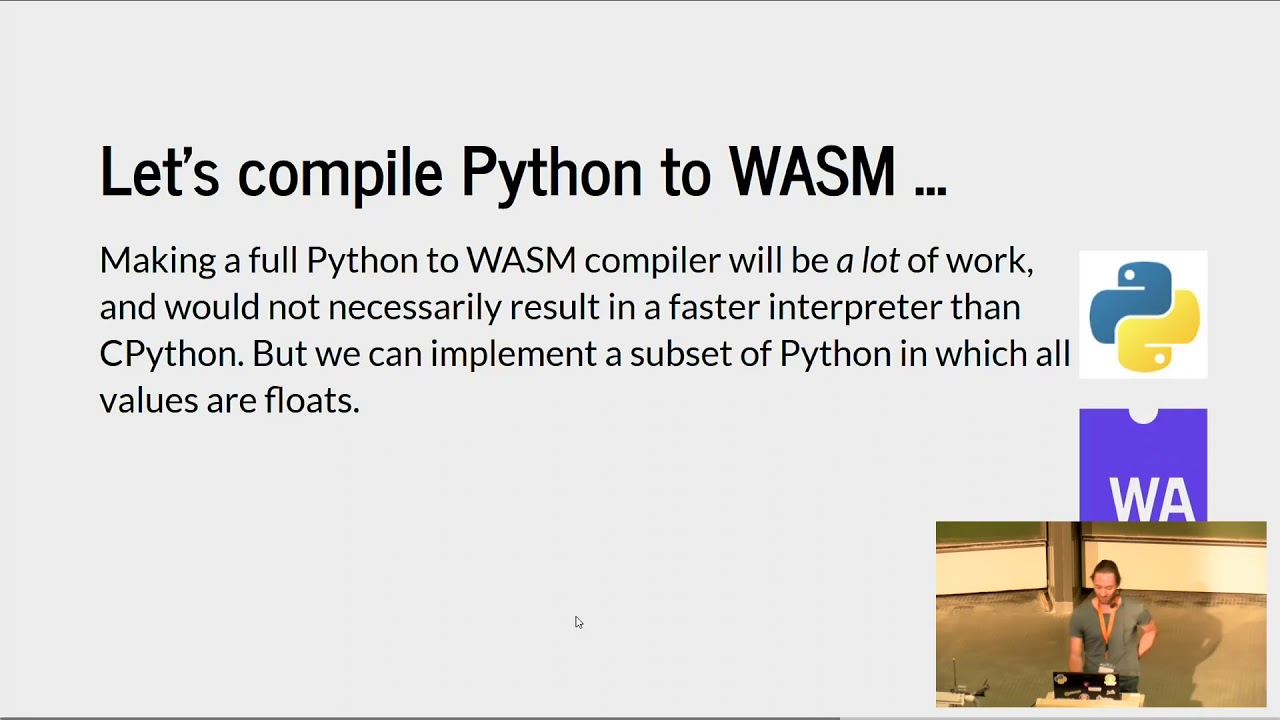 Image from EuroSciPy 2017: Getting the hang of WASM