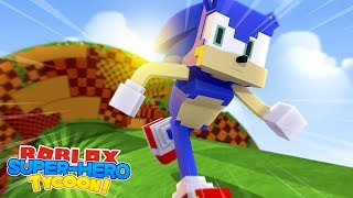 ROBLOX Adventure - SONIC THE HEDGEHOG IN SUPERHERO TYCOON!!!