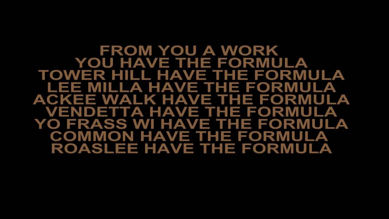 Alkaline - Formula (Lyrics) - YouTube