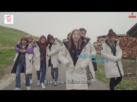 Dorky TWICE playing the alpenhorn [ENG SUB]
