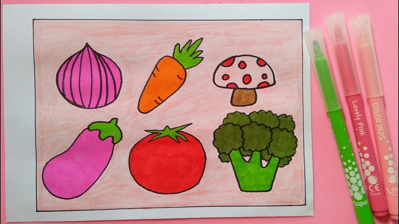 Cara Menggambar Dan Mewarnai Sayuran Untuk Anak Anak