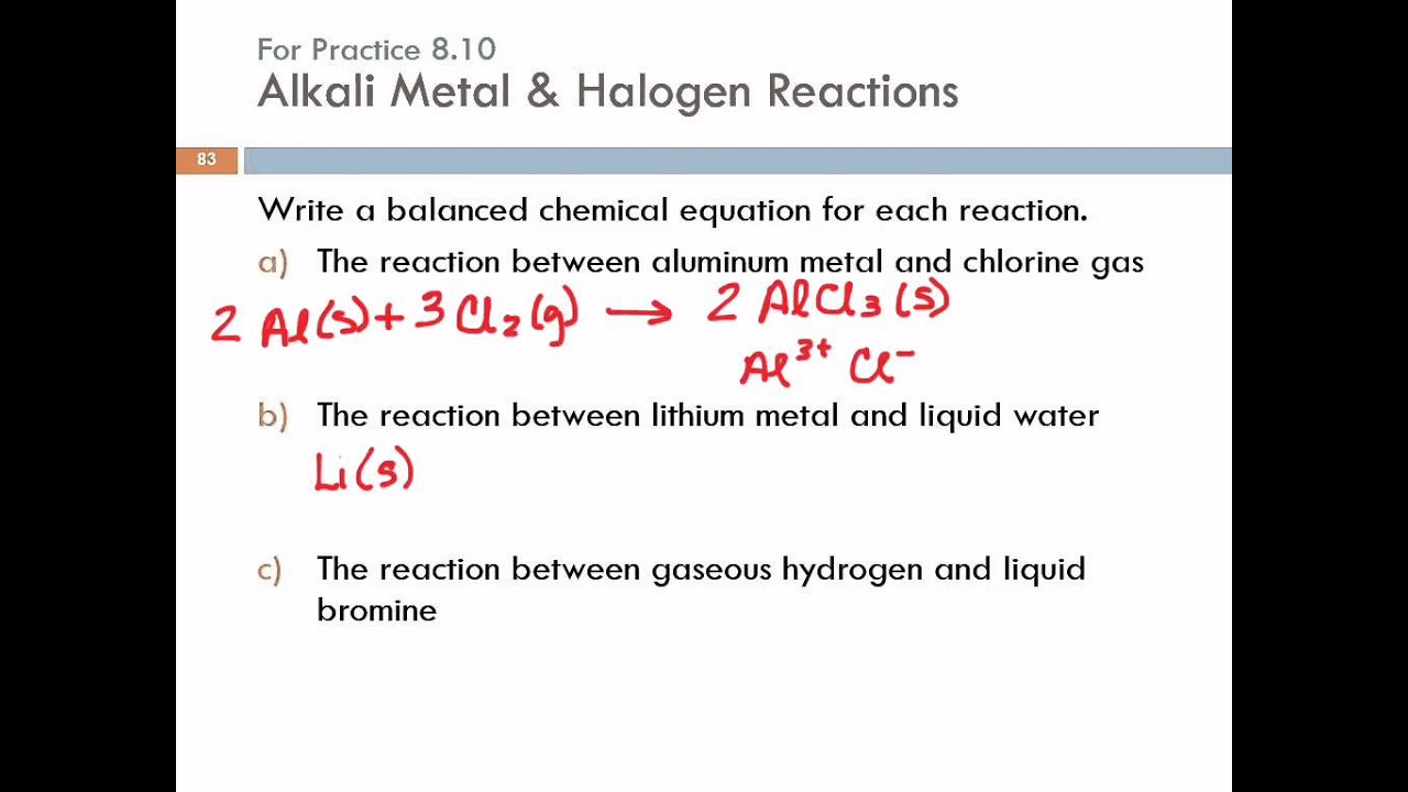8.9 Some Examples Of Periodic Chemical Behavior: The Alkali Metals, The  Halogens, U0026 The Noble Gases   YouTube