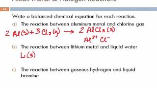 8.9 Some Examples of Periodic Chemical Behavior: The Alkali Metals, the Halogens, & the Noble Gases