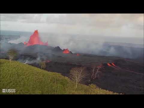 Kīlauea Volcano — Overflight Video Compilation