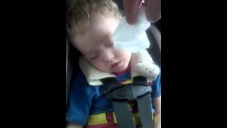Nothing wakes this snoring toddler
