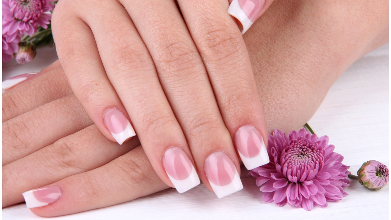 Fast Ez Pink White Nails Half Moon Shape Today S Products
