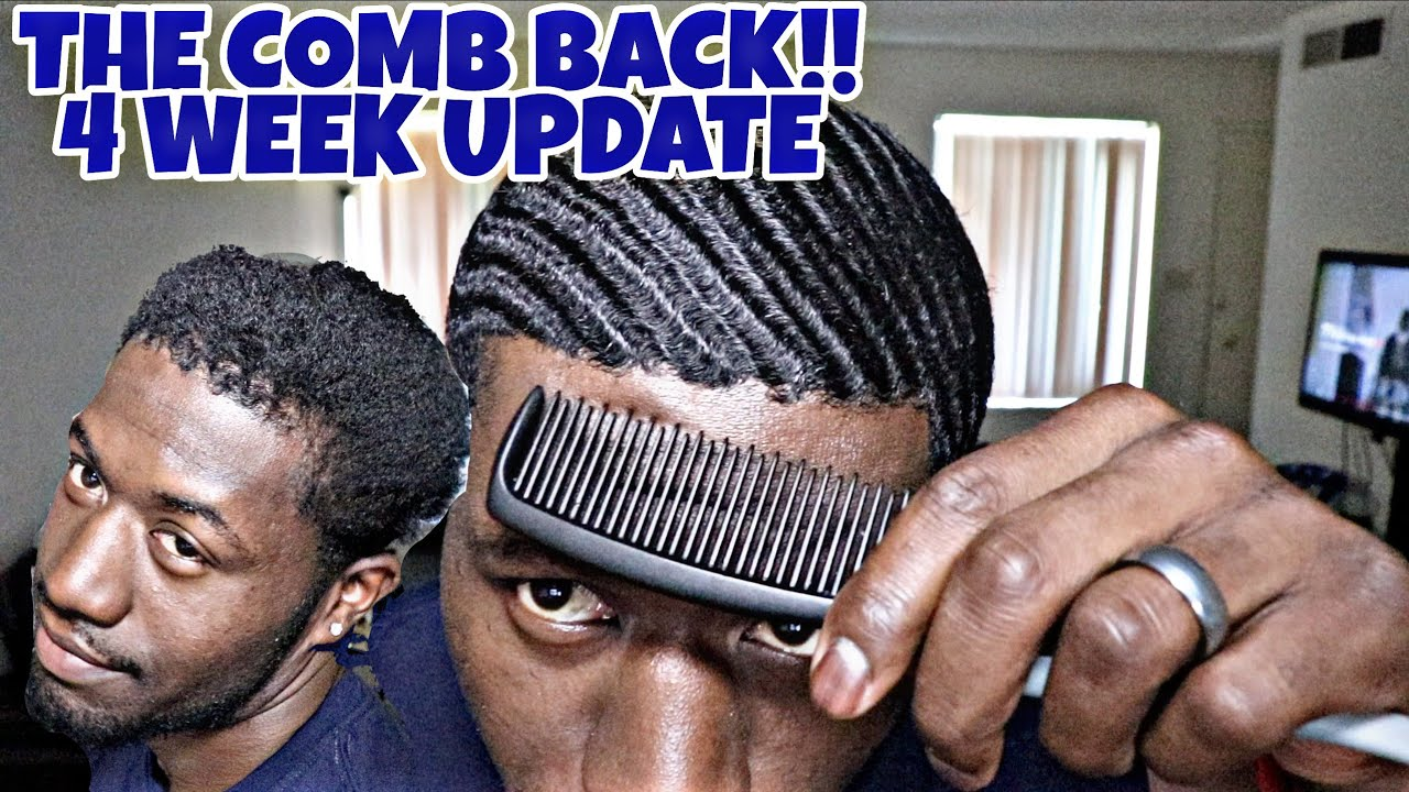 360 Waves The Comb Back 4 Week Wolf Update 360jeezy Haircut Youtube
