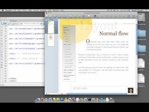 (06/37) Using Dreamweaver's Code Collapse To Make HTML Documents Look Neat - UCLA Extension