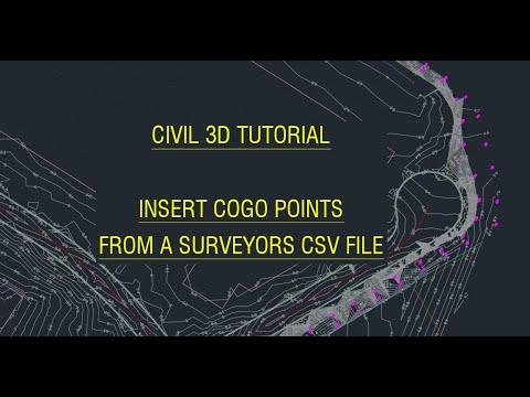 Civil3D Tutorial - Insert COGO points from a surveyors CSV file
