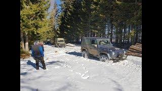 Mercedes G mit Schneeketten, Karpaten Februar 2018, Teil 1