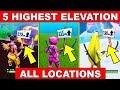 5 Highest Spots Fortnite