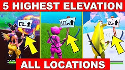 """""""VISIT THE 5 HIGHEST ELEVATIONS ON THE ISLAND"""" - ALL LOCATIONS WEEK 6 CHALLENGES FORTNITE SEASON 8"""
